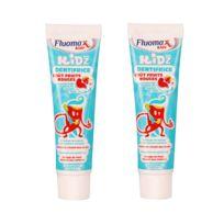 Fluomax - Lot de 2 Dentifrices Junior 3 à 6 ans - Goût fruits rouge