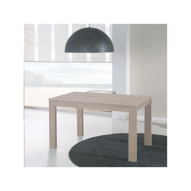 Tousmesmeubles - Table de repas à allonges Chêne clair - Tova - pas ...