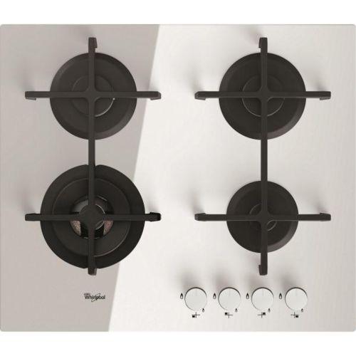 Whirlpool table verre gaz 60cm 4 foyers blanc akt7000wh - Table induction de dietrich dti1358dg ...
