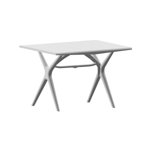 Grosfillex - Table pliante Sigma - 115x75 cm - blanc glacier - pas ...