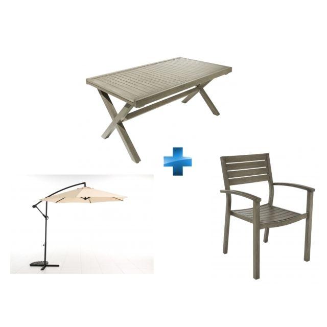 CARREFOUR - Table de jardin Honfleur extensible + Fauteuil ...