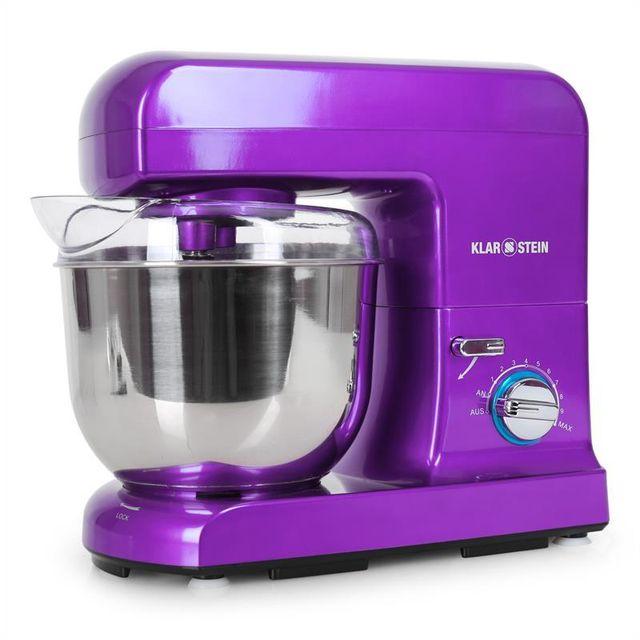 KLARSTEIN Gracia Viola Robot de cuisine multifonction 1000W bol inox 5l -violet