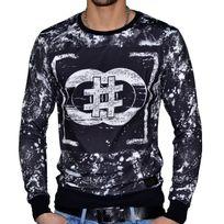 Celebrytees - Celebry Tees - Sweat Shirt - Homme - Snow - Noir