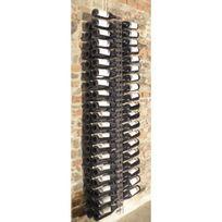 Sobrio - Support mural en plexiglas transparent pour 92 bouteilles illumination Led optionnelle Plexiglas transparent Aci-sbr115