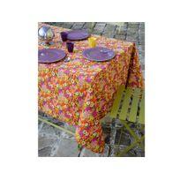 Stof - Nappe 100% coton enduit antitache motif fleur liberty multicolore Floraly