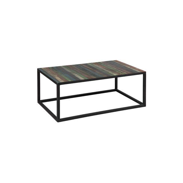 Table basse en acier plateau multicouleurs Atelier Metal