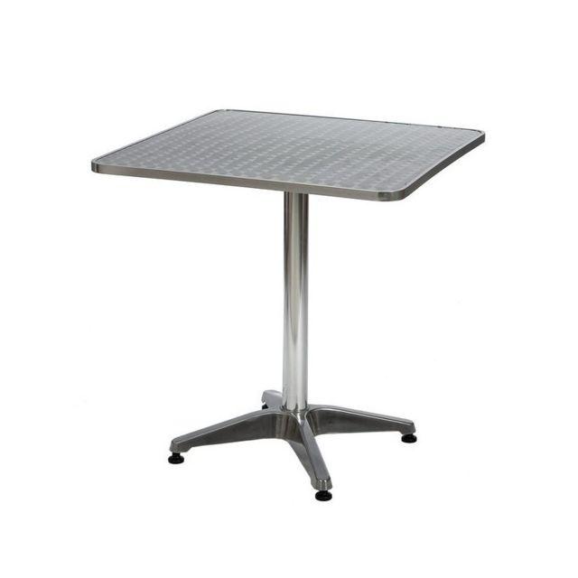 cross table bistro carr e corfou 70x70 cm pas cher achat vente tables de jardin. Black Bedroom Furniture Sets. Home Design Ideas