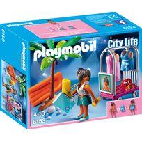 PLAYMOBIL - CITY LIFE - Top modèle avec tenues de plage - 6153