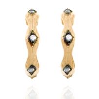 Alexandra Plata - Boucles d'oreilles créoles en argent sterling plaquées or