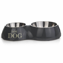 "Beeztees - Double bol d'alimentation ""Best Dog"" 1050 ml 37x22 cm"