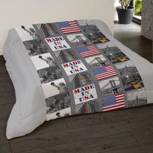 dourev couette imprim e 220x240 downtown 240cm x 220cm pas cher achat vente couettes. Black Bedroom Furniture Sets. Home Design Ideas