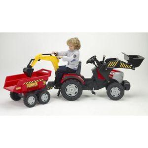 falk tracteur a p dales tractopelle rouge mc cormick avec. Black Bedroom Furniture Sets. Home Design Ideas