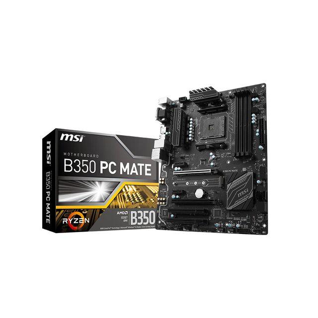MSI - Carte mère B350 PC MATE - Socket AM4 - Ryzen