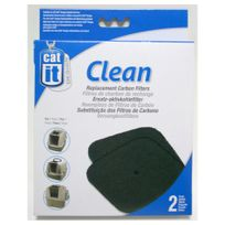 Cat It - Recharge Filtres de Charbon pour Maison de Toilette - x2