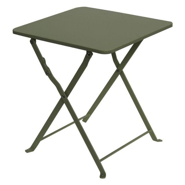 MARQUE GENERIQUE Table basse pliante Danemark l.40 x l.40 x H.45 cm tilleul