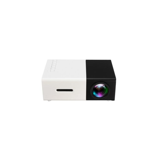 Auto-hightech Mini projecteur Portable Hd Led avec entrée Pc portable Usb / Tf / Av / Hdmi – Prise Ue