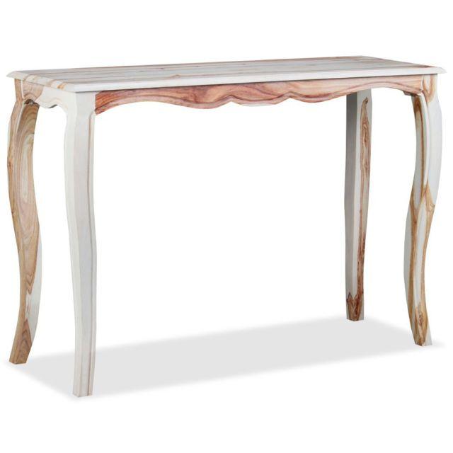Admirable Consoles gamme Kingston Table console Bois de Sesham massif 110 x 40 x 76 cm