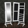 Rocambolesk - Superbe Armoire à Bijoux rangement miroir meuble chambre blanc neuf