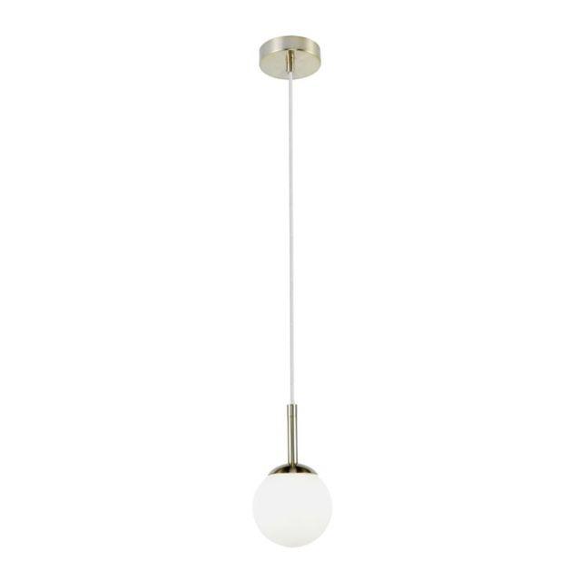 Gitse-suspension Boule Métal et Verre pour salle de bain Ø10cm Doré