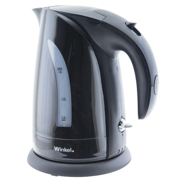 WINKEL Bouilloire noire SW8_NOIR Bouilloire électrique sans fil rapide et pratique, capacité d'1,8 litre, puissance de 2200W avec poignée Cool-Touch.La Winkel SW8N est une bouilloire électrique sans fil qui porte l'eau froide &