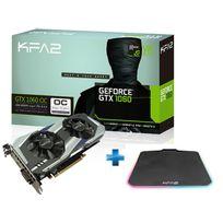 KFA2 - GeForce GTX 1060 OC 6Go DDR5 192bit DP 1.4, HDMI 2.0b, Dual Link-DVI + Tapis de Souris Gaming Sniper RGB