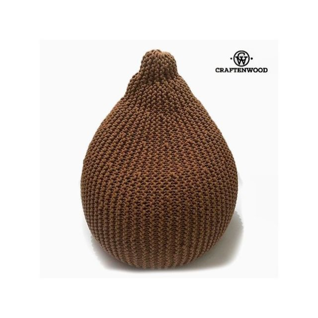 Craften Wood Pouf Coton Marron 57 x 57 x 60 cm, by Craftenwood