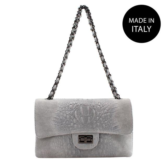 Femme Borse épaule Chicca sac gris q4YxpUUw