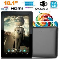 Yonis - Tablette tactile 10 pouces Android Lollipop 5.1 Octa Core 32Go Noir