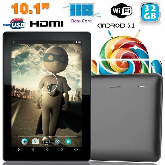 93dcad07781115 Yonis - Tablette tactile 10 pouces Android Lollipop 5.1 Octa Core 32Go Noir