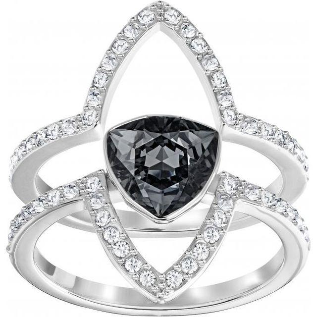 6e33f97507038 Swarovski Bijoux - Promo Bague Swarovski Classic Jewelry  Fantastic-crysini-rhs - Bague Noir Cristal Femme - pas cher Achat   Vente  Bagues - RueDuCommerce