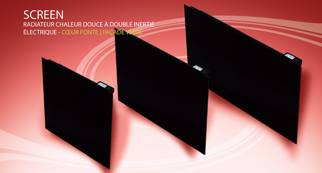 carrera radiateur inertie c ramique screen 1500w 1. Black Bedroom Furniture Sets. Home Design Ideas