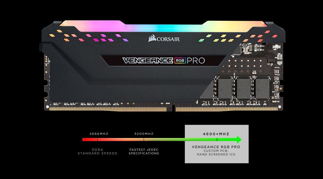 Vengeance RGB PRO 16 Go 3200 MHz CAS 16 - Noir