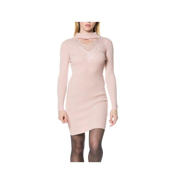 09bb9020ce5 Princesse Boutique - Robe-pull Rose avec dentelle Taille unique ...