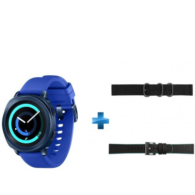 Samsung - Gear Sport Bleu nuit + Bracelet pour Montre Gear Sport + Bracelet pour Montre Gear Sport