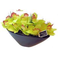 Somoplast - Composition d'orchidées artificielles - Coupe imposante en céramique - Création haut de gamme