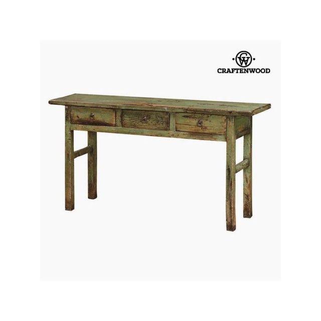 Craften Wood Meuble D Entree Avec 3 Tiroirs Bois 169 X 40 X 87 Cm