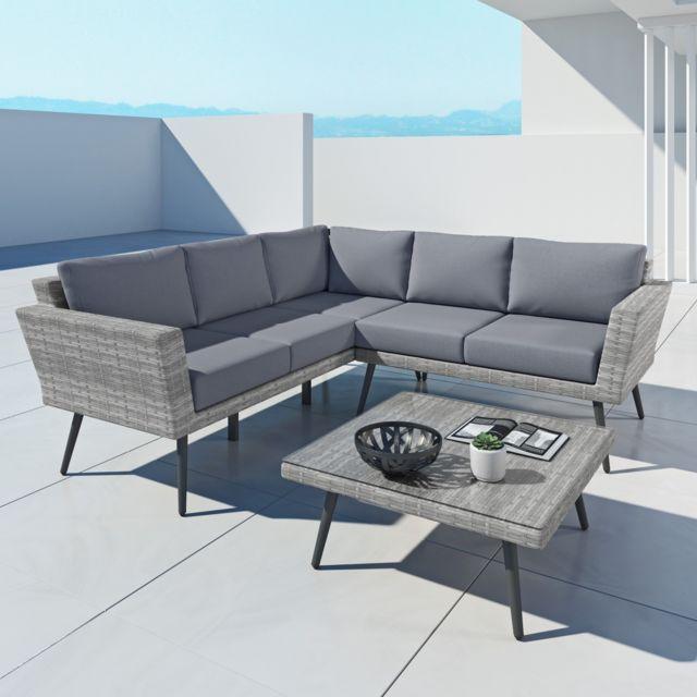 avril paris ina ensemble salon de jardin scandinave. Black Bedroom Furniture Sets. Home Design Ideas