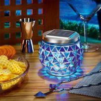 ESOTEC - Lampe de table solaire brillante bleu