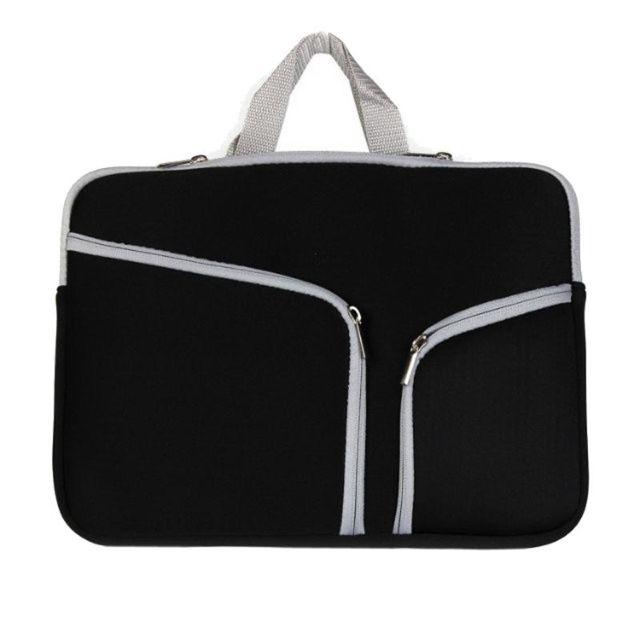 b656a081c0 Wewoo - Sacoche pour ordinateur portable noir Macbook Pro 15 pouces sac  Double poche Zip à