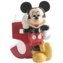 Dekora - Bougie Anniversaire Mickey - Chiffre 5