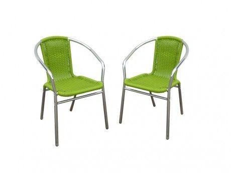 Marque Generique - Lot de 2 chaises de jardin en aluminium ...
