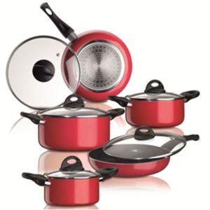 Bialetti 10 pi ces noir tous feux dont induction casserole - Batterie de cuisine induction pas cher ...