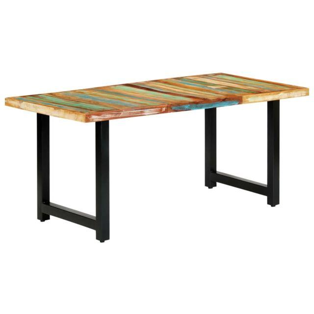 Moderne Tables famille Djouba Table de salle à manger 180x90x76cm Bois de récupération solide