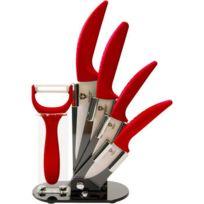 Royalty Line - RoyaltyLine 4 Couteaux Ceramique - rouge