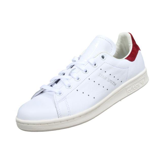 photos officielles 46aa3 aafc6 Adidas - Stan Smith W Aq0887 Blanc/Bordeau - pas cher Achat ...