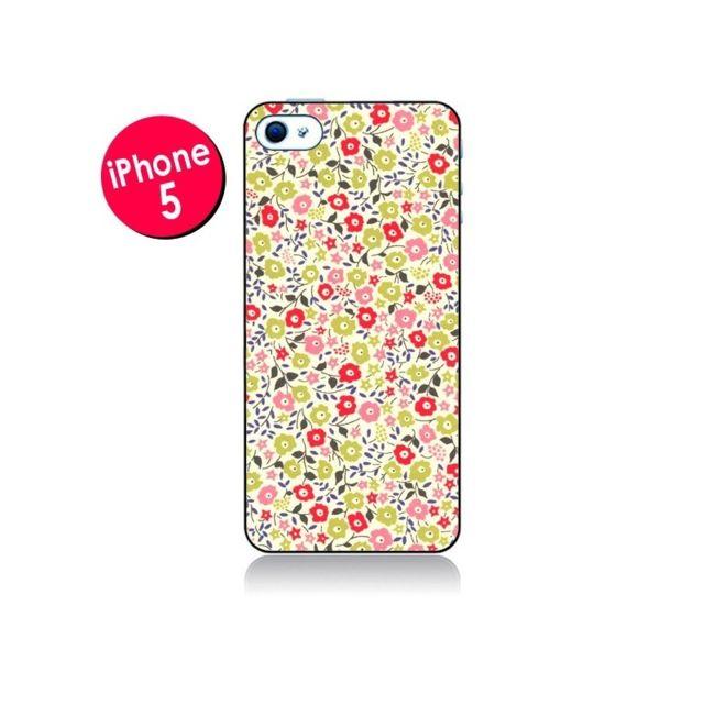 coque iphone 5 5s se liberty fleurs nico