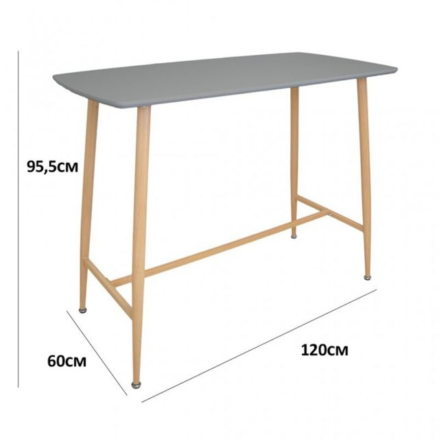 Zoli99 Klary Table haute grise