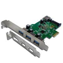 CONNECTLAND - Carte USB 3 ports externes et 1 port interne USB 3.0