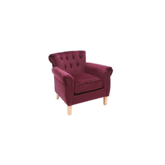 miliboo fauteuil velours bordeaux bois clair majestic sebpeche31. Black Bedroom Furniture Sets. Home Design Ideas