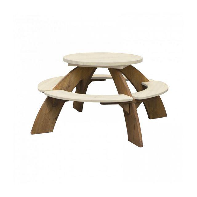 AXI Table pique-nique- Ronde Orion - Pour enfant